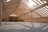 Dachstuhl aus Holz - 207334901