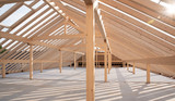 Dachstuhl aus Holz - 207334966