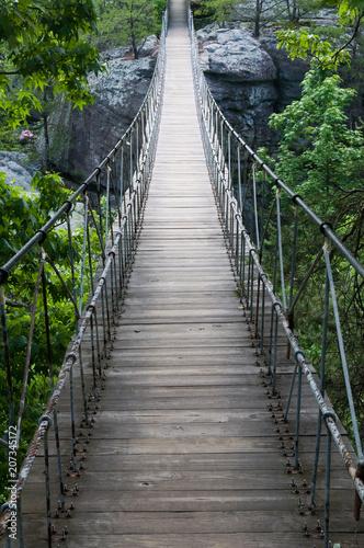 Fotobehang Bruggen Footbridge