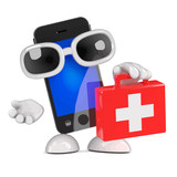 Vector 3d Smartphone first aid kit - 207350756