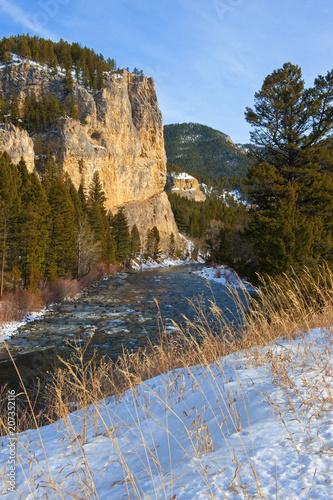 Canvas Blauwe hemel Rocky Mountain NP