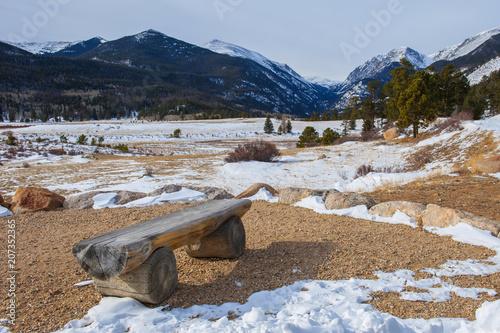 Fotobehang Bergrivier Rocky Mountain NP