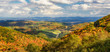 Autumn foliage of a farming valley taken from Grayson Highlands  Virginia State Park