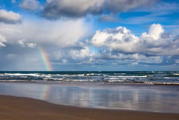 Rainbow over Anglesea beach, Victoria, Australia