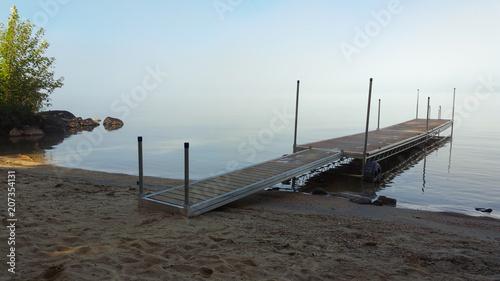Canvas Pier Beach and lake