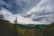 stormy sky over mountain overlook - 207356513