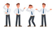 businessman working in office character vector design.No2