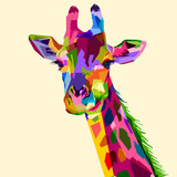 colorful wildlife mammal fauna giraffe