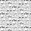 Hand Drawn Cute Dogs Pattern Background. Vector Illustration. - 207364103
