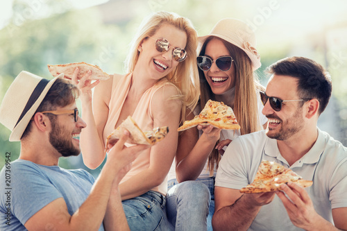 Foto Murales Friends and pizza