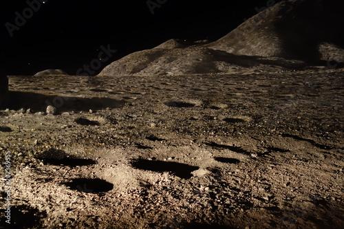 Fotobehang UFO Mondlandschaft