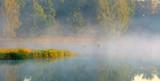 Wiosenny Mglisty Świt Nad Stawem - 207374586
