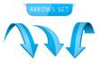 3d blue arrows set