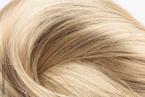 Fotobehang Kapsalon blond human hair