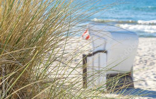 Fotobehang Noordzee Strandkorb an der Ostsee