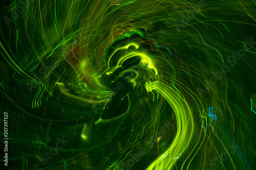 green moving lights background - 207397527