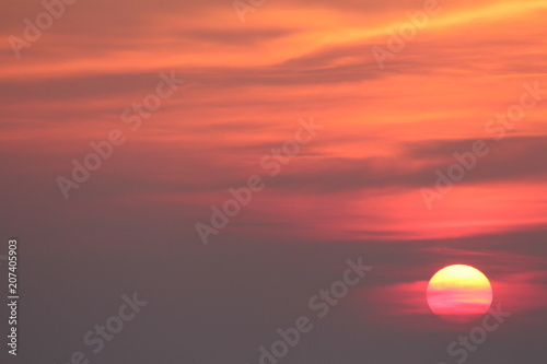 Fotobehang Koraal coucher du soleil - sunset