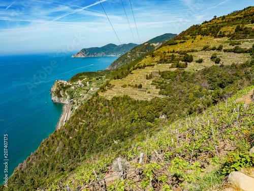 Aluminium Liguria Cinque Terre coast, Italy