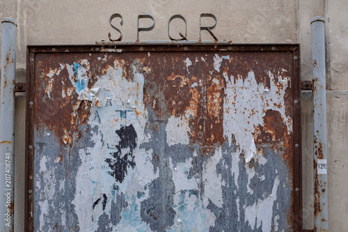 Fotobehang Graffiti SPQR