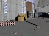 verkommener Hinterhof mit Abfällen - 207410705