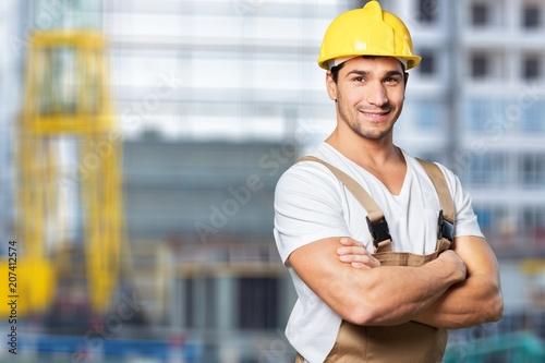 Leinwanddruck Bild Construction.