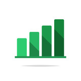 Growth chart icon vector - 207414189