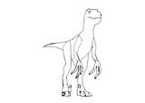 sketch of a dinosaur vector