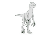 sketch of a dinosaur vector