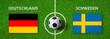 Leinwanddruck Bild - Fußball - Deutschland gegen Schweden