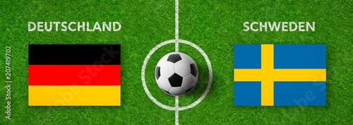 Leinwanddruck Bild Fußball - Deutschland gegen Schweden
