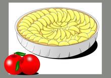 Pastel De Manzana En Tartera Con Motivo De Manzanas Frescas Y Naturales Sticker