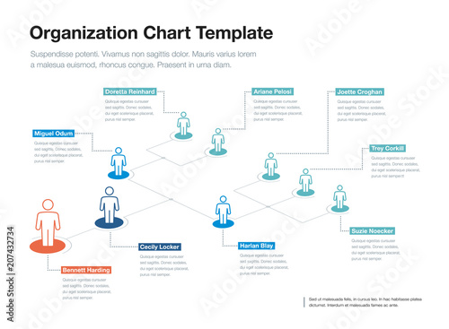 Simple company organization hierarchy chart template with place for simple company organization hierarchy chart template with place for your content easy to use for flashek Images