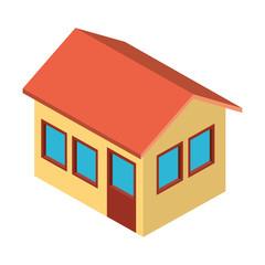 exterior house isometric icon vector illustration design