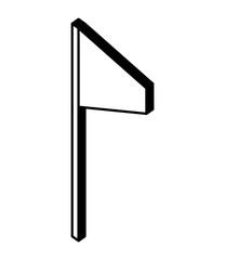 flag marker in stick isometric icon vector illustration design © Gstudio Group