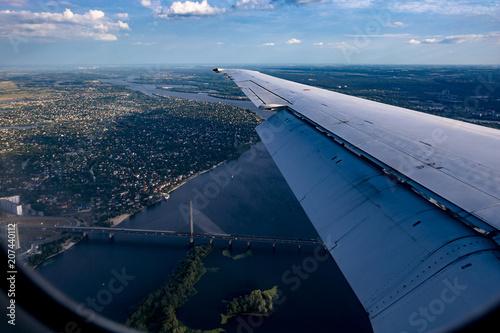 Aluminium Kiev Bridge over the Dnieper in Kiev view from above