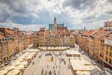 Nice view of Warsaw Old town square - 207449978