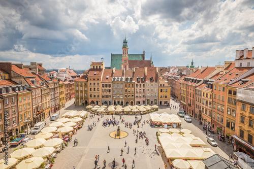 Zdjęcia na płótnie, fototapety na wymiar, obrazy na ścianę : Nice view of Warsaw Old town square
