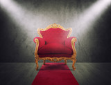 Red and gold luxury armchair. concept of success and glory - 207450310
