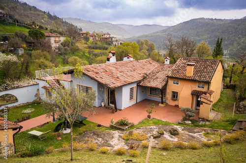 Typical house in the Italian hills.