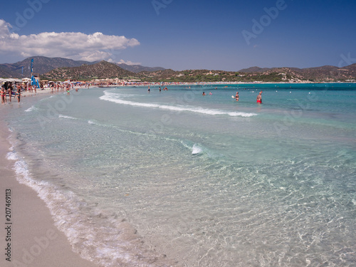 One of the marvelous and uncontaminated beaches of the island of Sardinia.