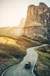 Leinwanddruck Bild - Mountain Road Highway of Dolomite Mountain - Italy