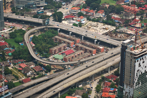 Fotobehang Kuala Lumpur Freeway interchange in Kuala Lumpur, Malaysia