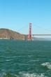 Golden Gate Bridge and mountain and ocean views in San Francisco, California