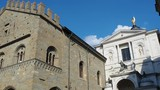 Bergamo, Italy. The old town. The ancient Administration Headquarter and the facade of the Saint Alexander Cathedral - 207484970