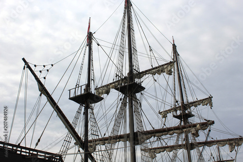Fotobehang Schip Old ship photo