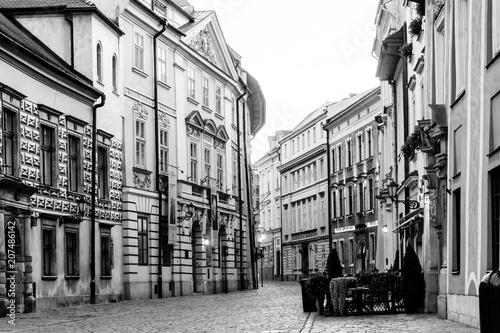 KRAKOW, POLAND - August 27, 2017: antique building view in Krakow, Poland - 207486142