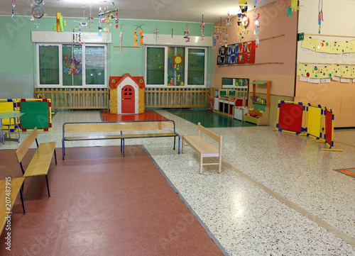 room with toys in a kindergarten