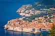Leinwanddruck Bild Town of Dubrovnik UNESCO world heritage site view