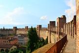 Ancient walls of Cittadella, beautiful village in Padua, Veneto, Italy. - 207496160