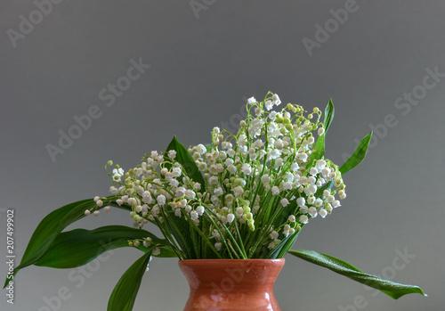 Fotobehang Lelietjes van dalen Bouquet of flowers. Lilies of the valley. Spring flowers.